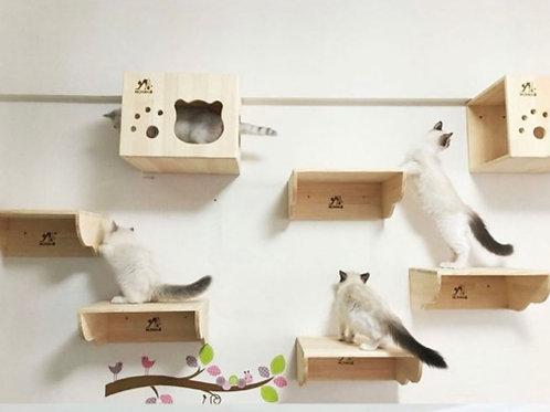 Cat bridge ladder wall- mounted climbing