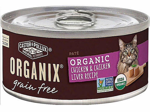 Castor & Pollux Organix® Grain Free Adult Cat Food Chicken & Chicken Liver 5.5Ib