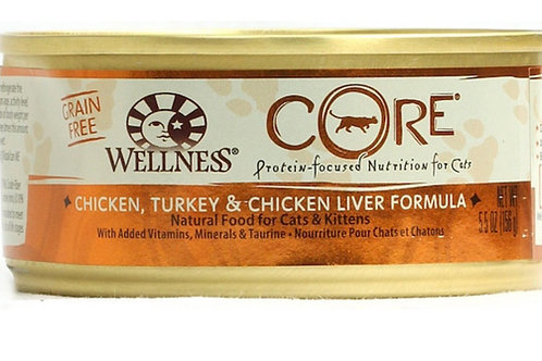 Wellness CORE® Natural Food for Cats and Kittens Formula Turkey-Chicken liver