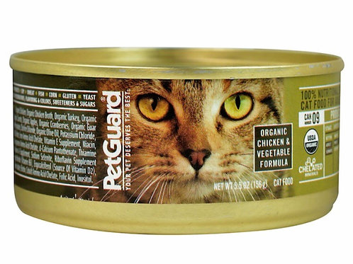 PetGuard Organic Canned Cat Food Chicken and Vegetable Formula 5.5 oz
