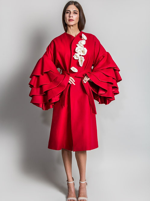 Noelle Ruffle Coat