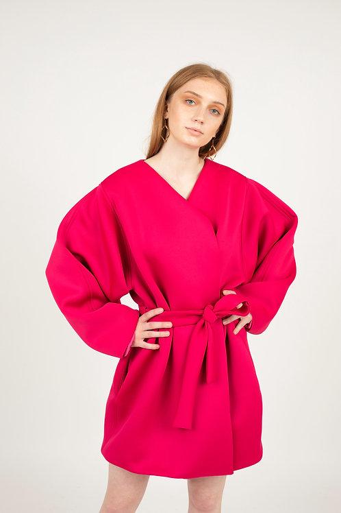 """Cotton Candy"" Fuchsia Neoprene Coat"