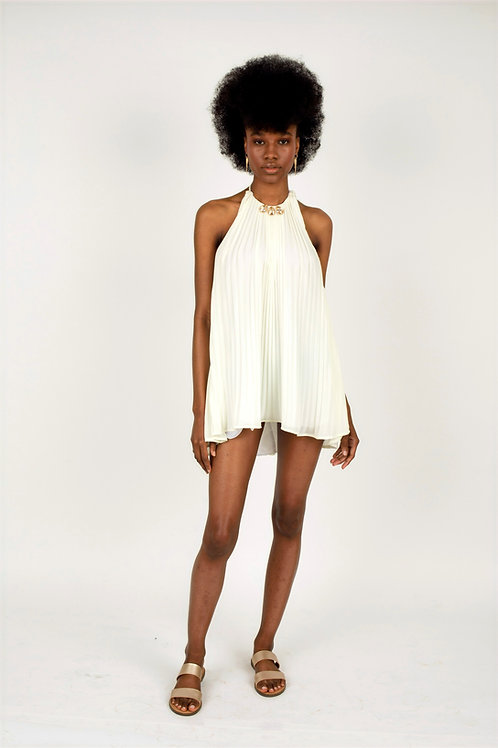 Gaia Short Pleated Dress