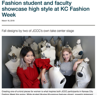 DESIGNER MUNISA KHURAMOVA OF MUNELLE DE VIE IS FEATURED ON JOHNSON COUNTY COMMUNITY COLLEGE WEBPAGE