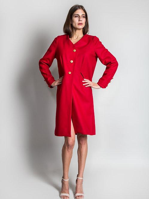 Yan Wool Asymmetrical Coat
