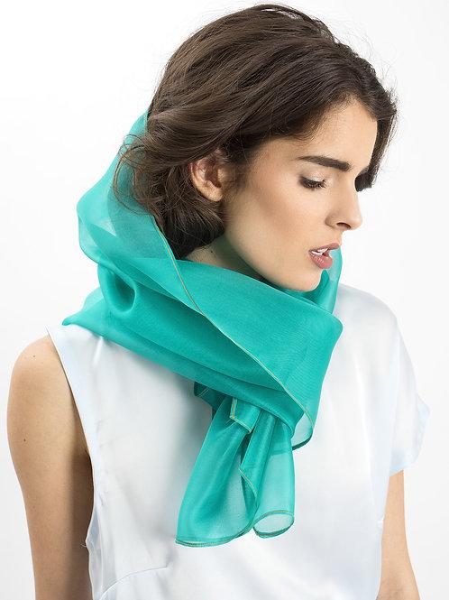 Azure Silk Scarf