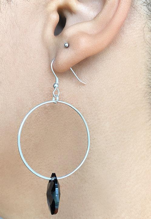 Crystal Ring Hoops
