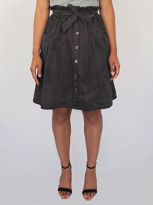 Deni Belted A-Line Skirt