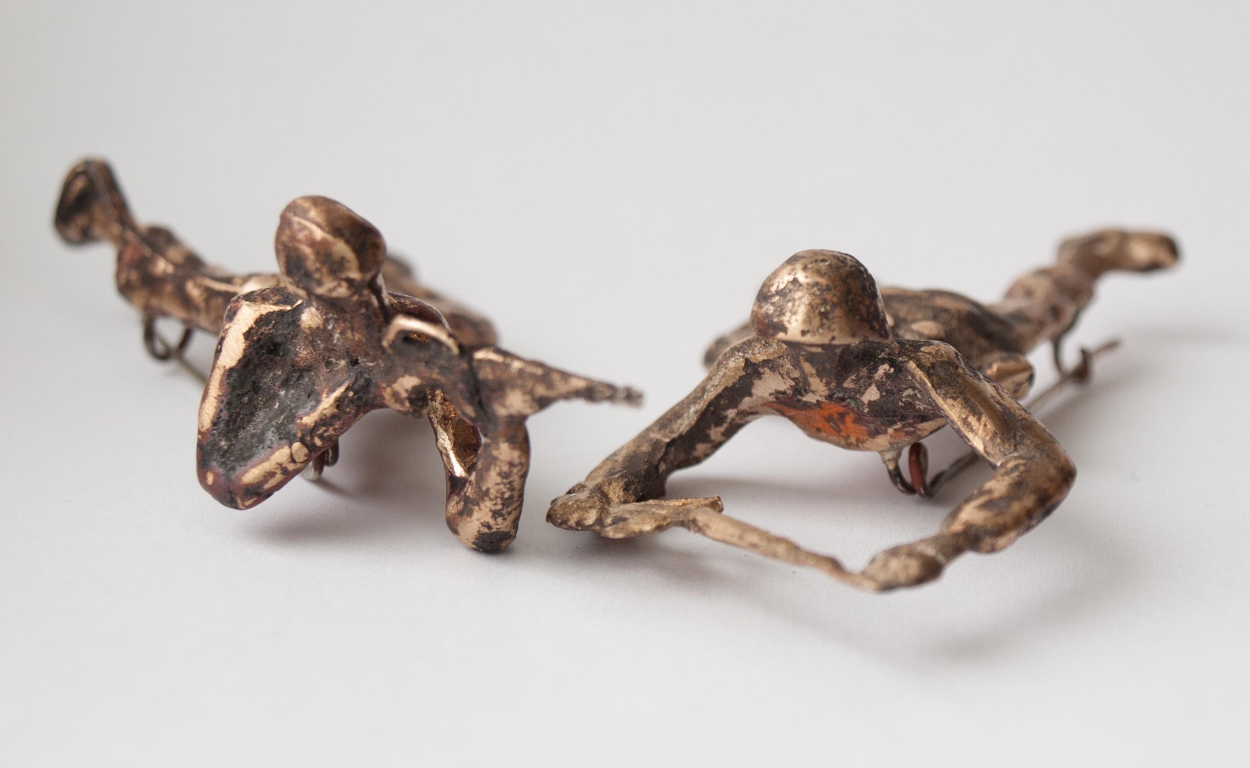 Bronze Cast Soldier Pins