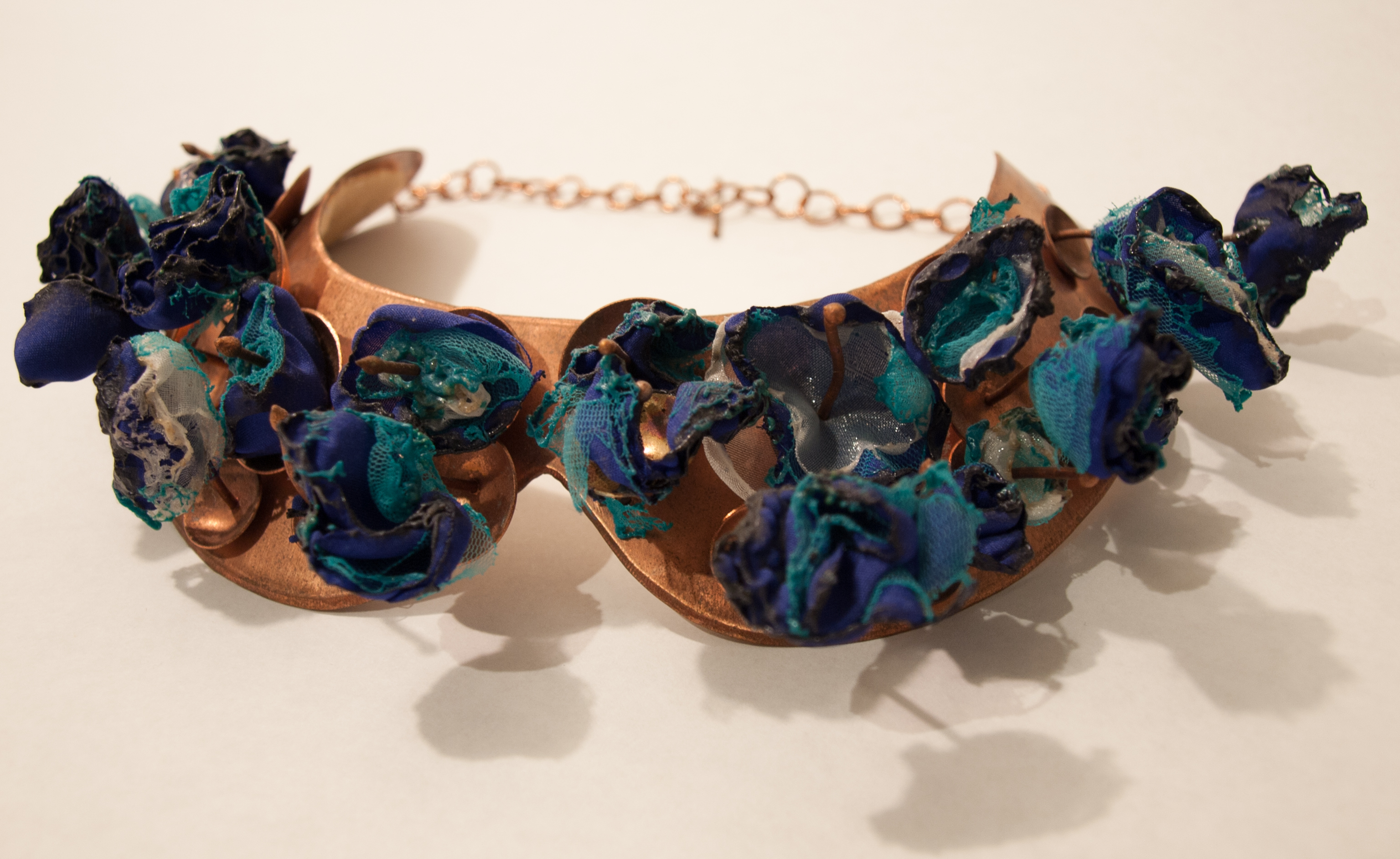 Copper Collar w/ Melted Poly Chiffon