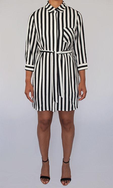 Kira Striped Shirt Dress