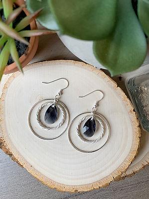 Lawren Michele Crystal Double Ring Earri