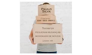 transfer (Ex: Toronto, Hamilton, etc.), Passeios (Niagara, Niagara On The Lake, Elora, etc.), Pequenas mudanças em London, Pick Up de móveis e diversos equipamentos e Montagem de móveis.