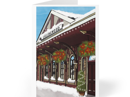 Local artist's design featured on Collingwood Mayor's Holiday Card
