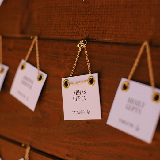 Gold-chained Escort Cards