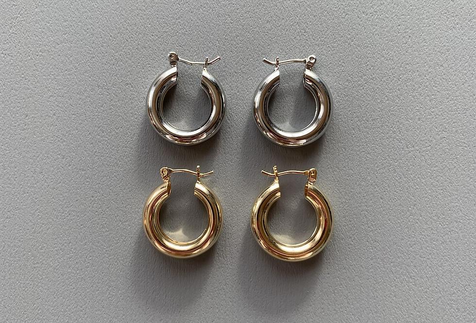 BASIC CIRCLE EARRINGS