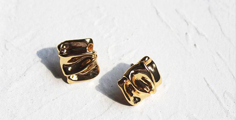 Irregular Textured Earrings