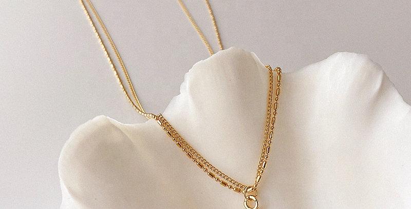 Vintage Glossy Love Pendant Necklace
