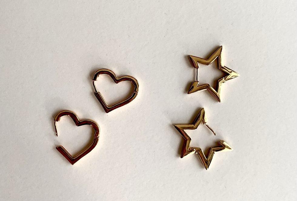 Heart Star Earrings