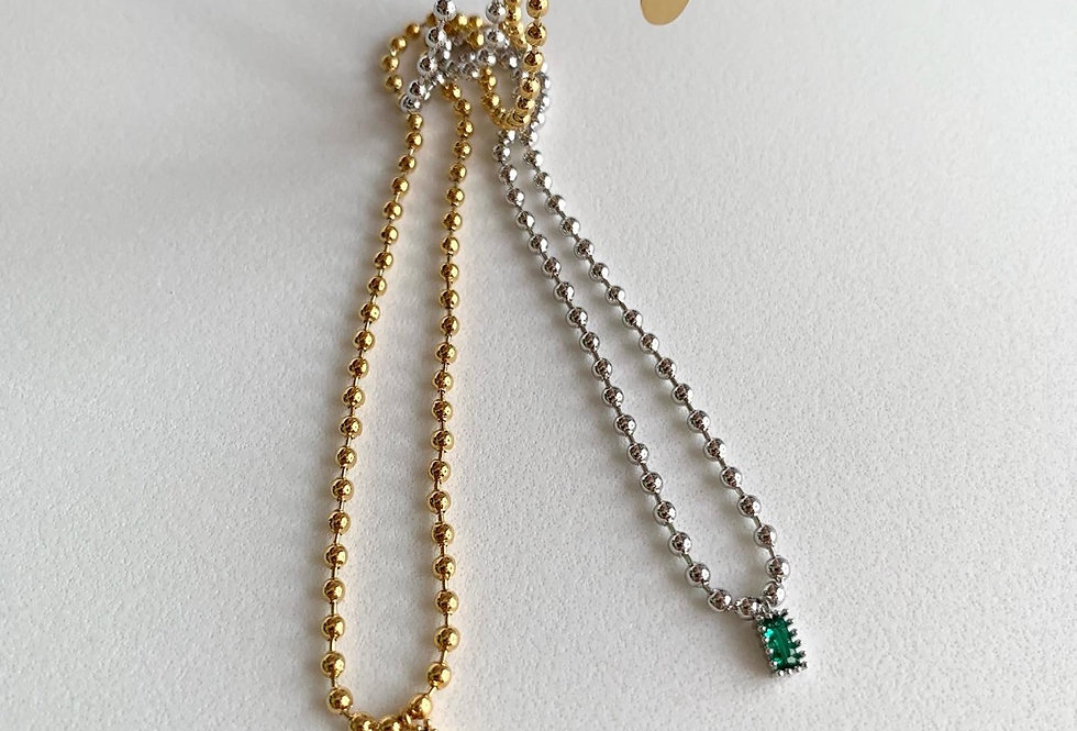 Ball Bead Chains Necklace