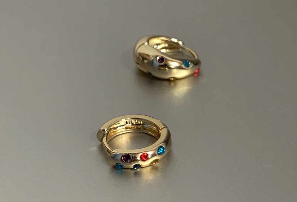 Colorful Rhinestone Earrings