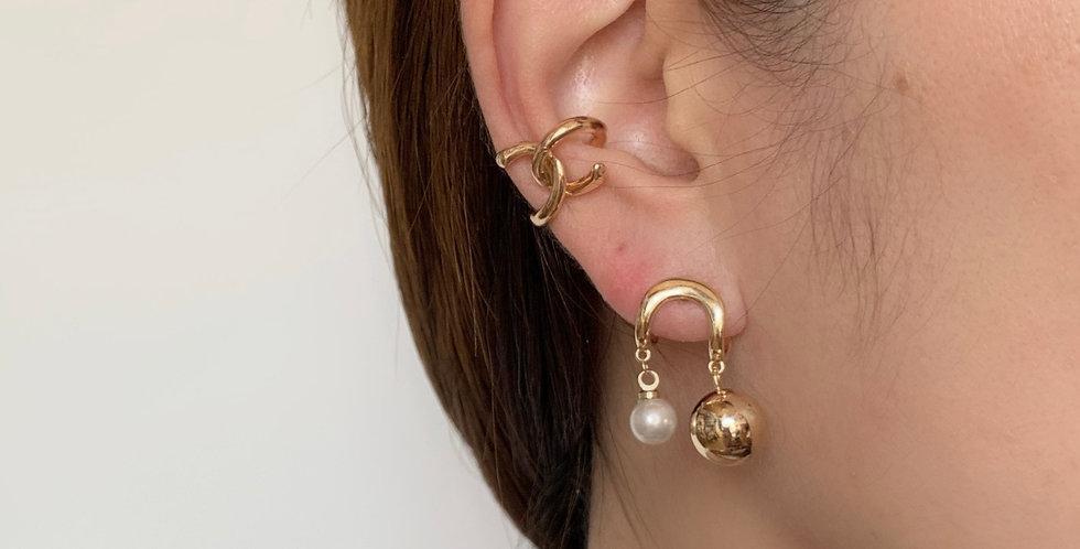 PEARL N GOLD EARRINGS