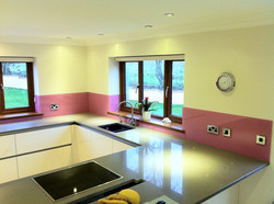 pink ice cream textured splashback