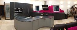 kitchen purple splashback