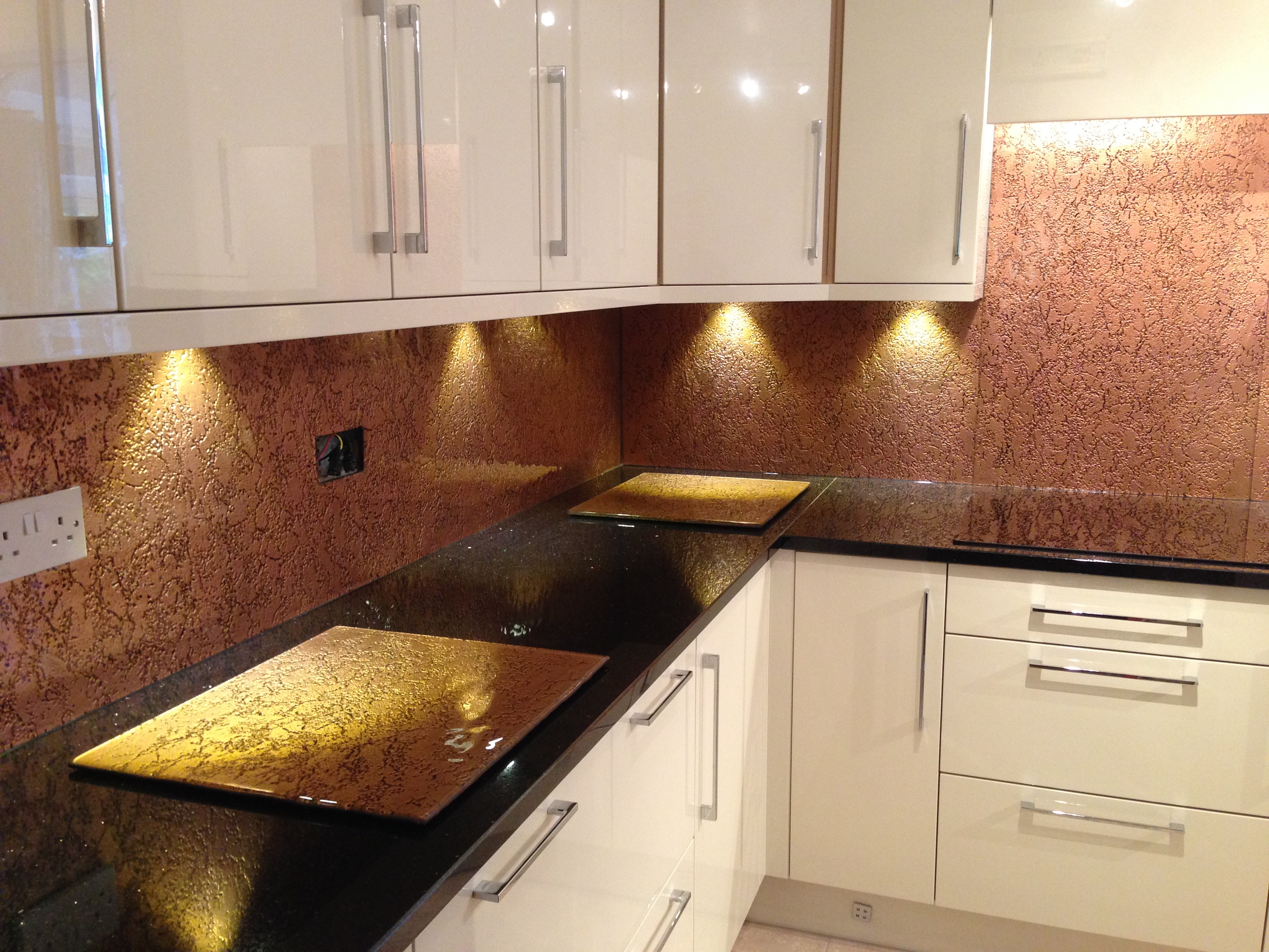 copper white kitchen
