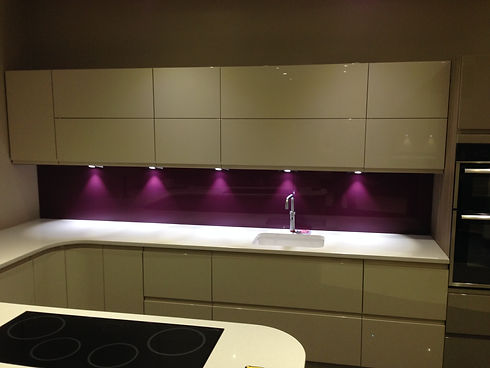 Purple untextured - dark kitchen