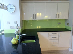 lime green black and white kitchen