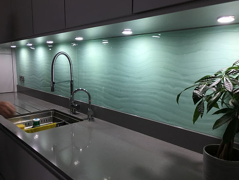 Sea green sink 1