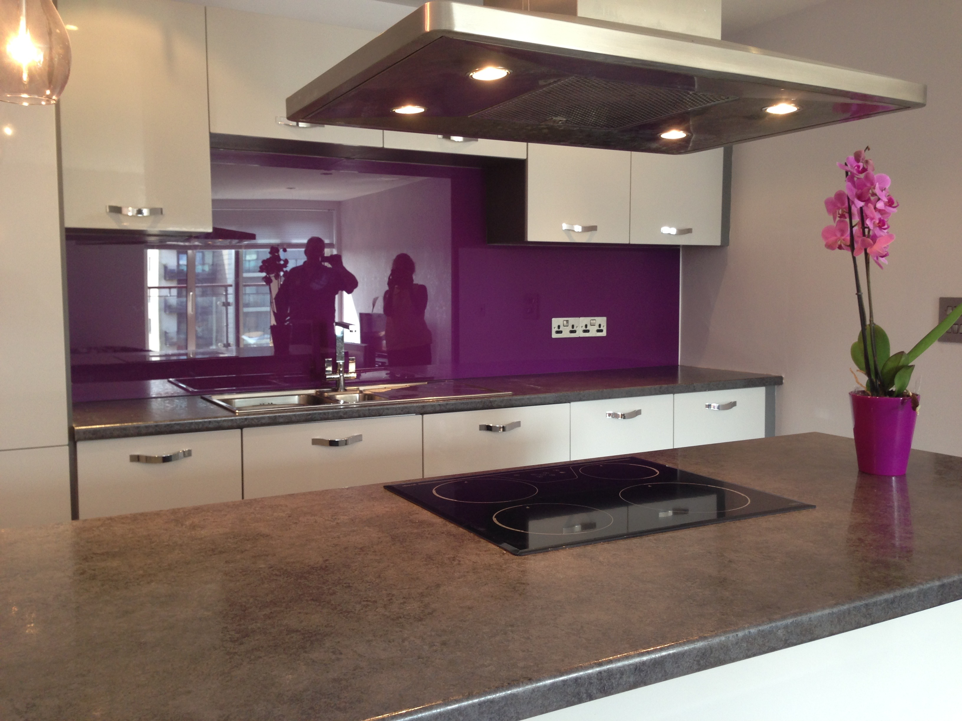 Purple untextured - kitchen
