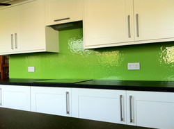 lime green textured black and white kitc