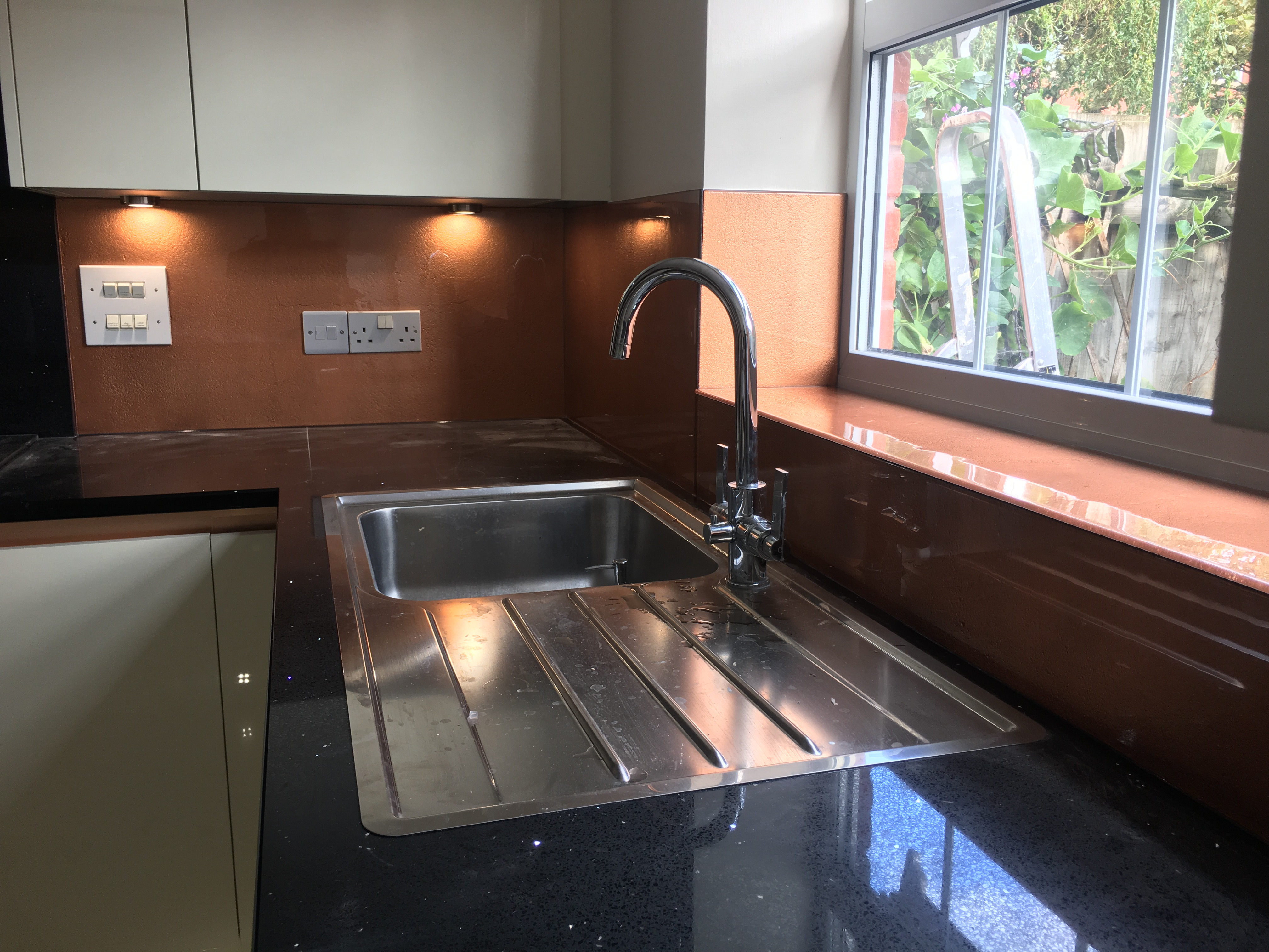 copper kitchen with sink