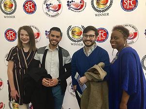 Alina, David, Jon, Soyini at the American Filmatic Arts Awards