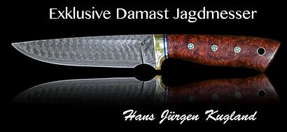 Damastmesser Damastjagmesser Messermacher handgeschmiedete Messer Damaszenerstahl Schmiede Jagdmesser