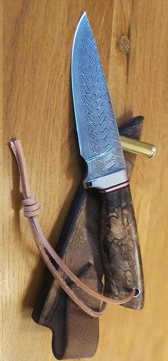 Damast-Jagdmesser Exklusiv handgeschmied