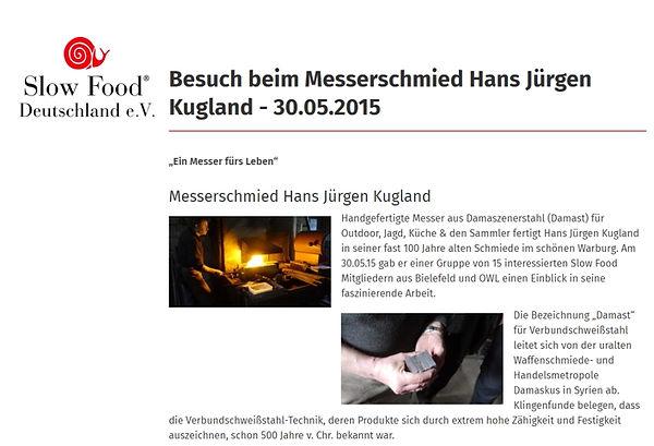 Ein Messer fürs Leben - Handgefertigte Messer aus Damaszenerstahl für Jagd und die Küche - Artikel Slow Food e.V.
