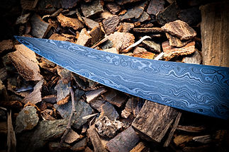 Messerklinge wilder Damast Detailfoto