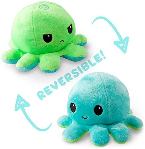 Tee Turtle Reversible Octopus Plush - Blue/Green