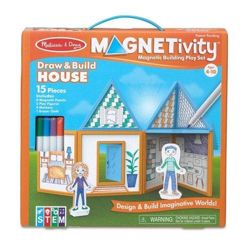 Magnetivity Draw and Build House Melissa & Doug