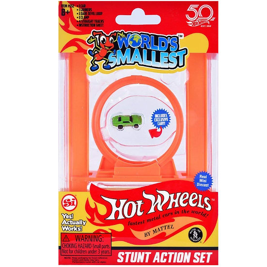 World's Smallest - Hot Wheels Stunt Action Set
