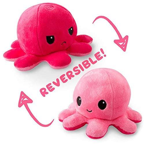 Tee Turtle Reversible Octopus Plush - Light Pink/Dark Pink