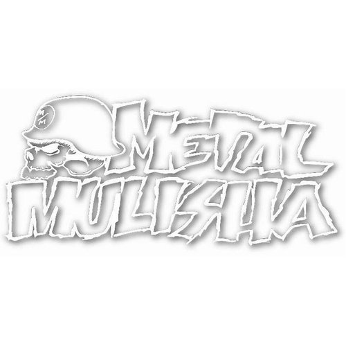 Metal Mulisha White Vinyl Decal