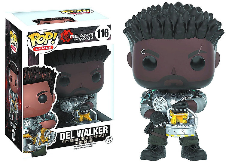 Gears of War Funko POP! Video Games Del Walker (Armored) Vinyl Figure 116
