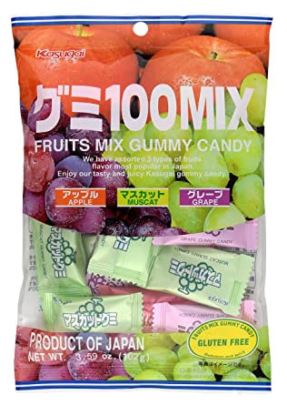 KASUGAI Fruits Mix Gummy Candy