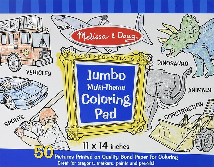 Jumbo Multi-Theme Coloring Pad Melissa & Doug