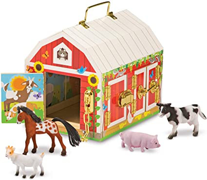 Wooden Latches Barn Toy Melissa & Doug