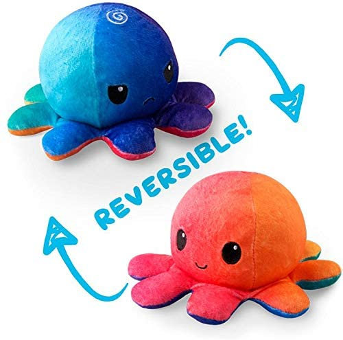 Tee Turtle Reversible Octopus Plush - Sunset/Mermaid